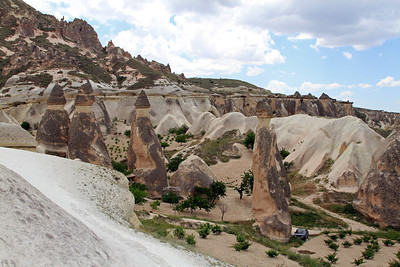 Fairy chimneys, Zelve, Cappadocia.