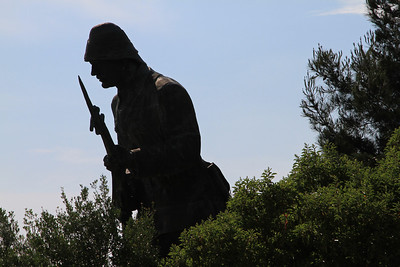 The Turkish Soldier memorial along the ridge between Lone Pine and Chunuk Bair.