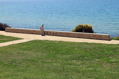 The site used to commemorate the ANZAC landings above North Beach near ANZAC Cove.