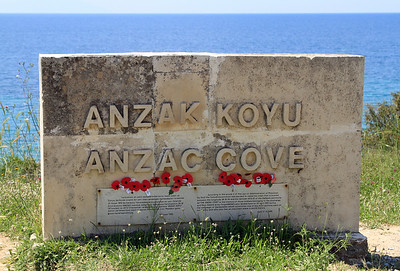 ANZAC Cove, Gallipoli Peninsula (known by the Turkish as Gelibolu).
