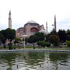 Hagia Sophia<br /> Rebuilt by Emperor Justinina in 537 as an Orthodox church, converted to a mosque in 1453. Converted to  museum of the Turkish Republic by the Ataturk in 1935