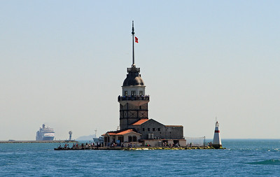 Leander's Tower at the entrance to the Bosphorus.