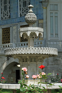 Ornate fountain near the Baghdad Pavilion, Topkapi Palace.