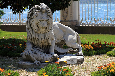 Lion fighting a crocodile, Dolmabahçe Palace.