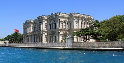 Beylerbeyi Palace besides the Bosphorus.