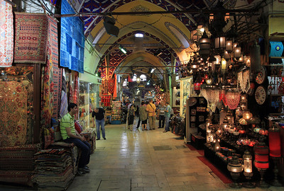 The Grand Bazaar - carpet sellers.
