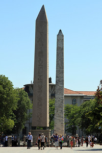 The Egyptian Obelisk and Serpentine Column in the Hippodrome, Sultanahmet Square.