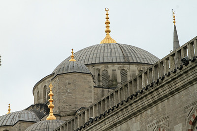 The domes of the Blue Mosque.