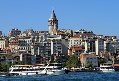 Galata Tower as seen from across the Golden Horn.