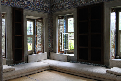 Interior of one o the Pavilions at Topkapi Palace.