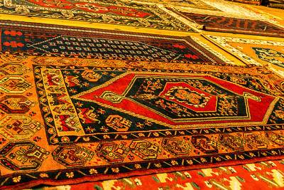 Some of the finished products at the rug cooperative.