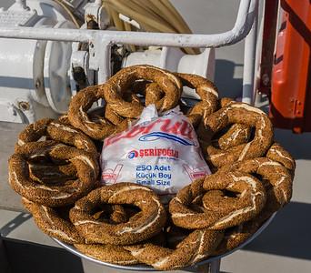 Our snack on our Bosporus cruise