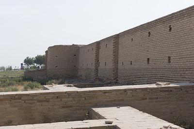 Raboti Malik Caravanserai on the road to Bukhara.  An interior view