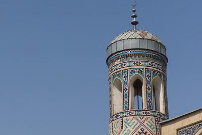 One of the towers of Kukeldash Madrasah.