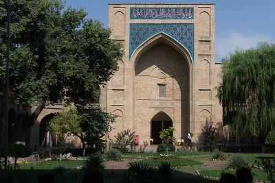 A view of the inner courtyard at Kukeldash Madrasah