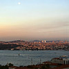 Moonrise over Bosphorus at Istanbul