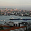 Ships in the Bosphorus at Istanbul
