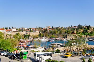 Zona histórica de Antalya Porto de abrigo
