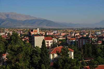 Overnight stop in a small town near Dinizli