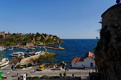 Parte antiga de Antalya Porto de abrigo