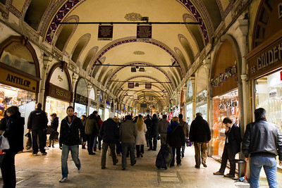 Istanbul - Grand and Spice Bazaar, New District and carpet buying