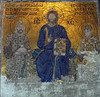 Hagia Sophia mosiac:  Empress Zoe and Emperor Constantine IX, with Christ enthroned (11th Century)