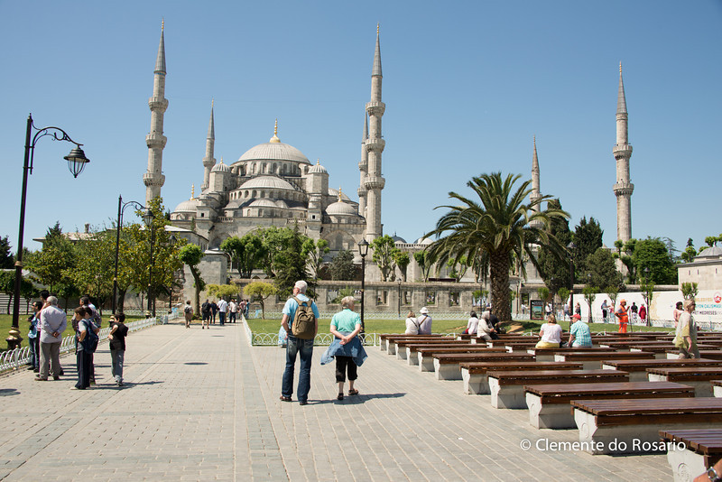 File Ref - 2013-06-04-Istanbul  242<br /> Blue Mosque in Sultanahmet district of Istanbul, Turkey