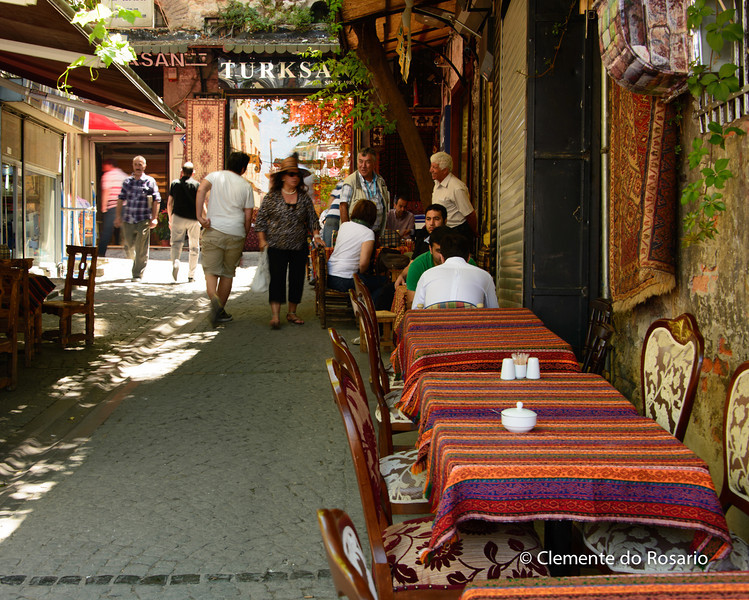 File Ref: 2013-06-04-Istanbul  274<br /> Street cafes in historic Old Istanbul.