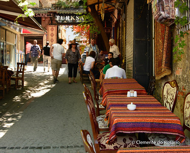 File Ref: 2013-06-04-Istanbul  274 Street cafes in historic Old Istanbul.