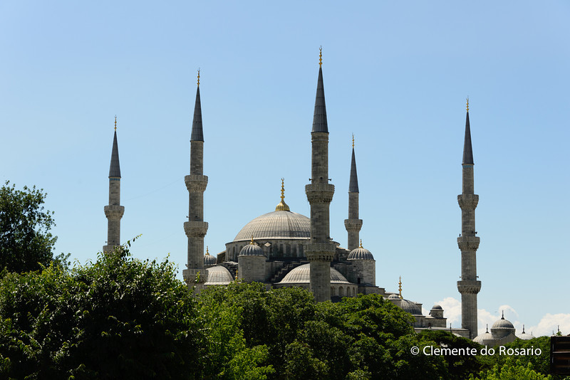 File Ref: 2013-06-04-Istanbul  251<br /> Minarets of the Blue Mosque, Istanbul
