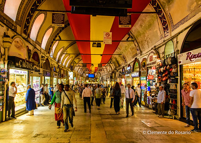 File Ref: 2013-06-04-Istanbul 309 Grand Bazaar in Istanbul is one of the largest covered makets in the world, with 3000 shops