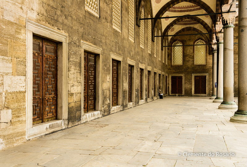 File Ref: 2013-06-04-Istanbul  166<br /> Blue Mosque Hallway in the main courtyard, Istanbul