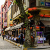 File Ref: 2013-06-04-Istanbul  197<br /> Sidewalk cafe near the Hippodrome district , Istanbul