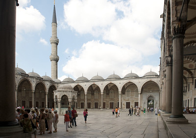 Courtyard adjacent to the Blue Mosque