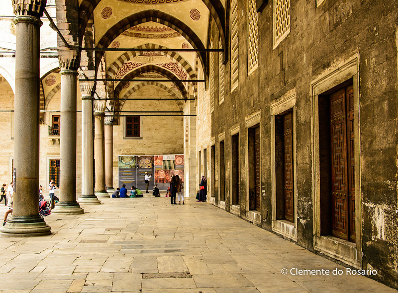 File Ref: 2013-06-04-Istanbul 163<br /> Blue Mosque Hallway in the main courtyard, Istanbul