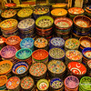 File Ref: 2013-06-04-Istanbul  303<br /> Turkish colourful dishes on sale in Istanbul,Turkey