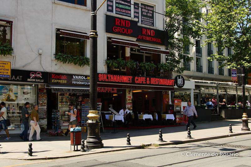 File Ref: 2013-06-04-Istanbul  257<br /> Divan Yolu, the main avenue starting from Sultanahmet to Grand Bazaar, Istanbul Turkey