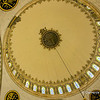 File Ref: 2013-06-04-Istanbul  279<br /> Decorative tile and ceramic artwork in the domed ceiling of a mosque in Istanbul