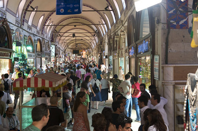 The main corridor of the Grand Bazaar