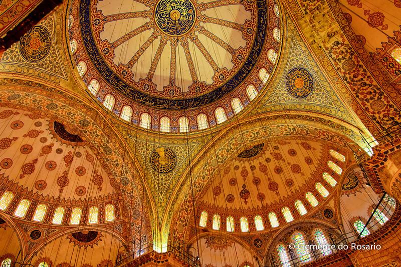File Ref:2013-06-04-Istanbul  111<br /> Blue Mosque Ceiling tile artwork.