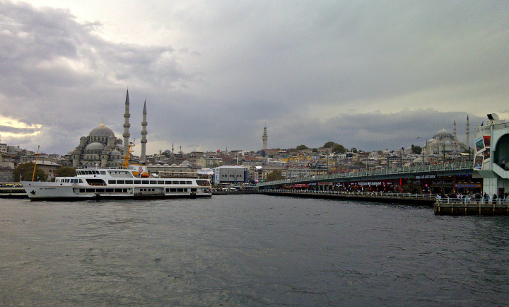 Approaching Eminönü Terminal