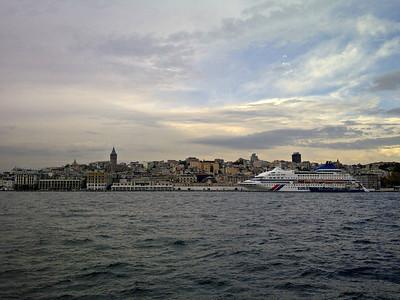 Cruise Ship at Galata