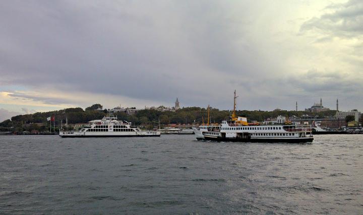 Ferries on Golden Horn