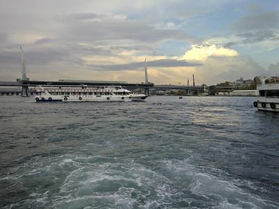 Halic Metro Bridge with Boats