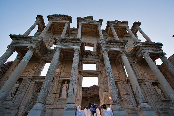Night concert in Ephesus at Celsus Library