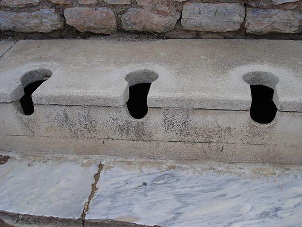 The Romans had toilettes!