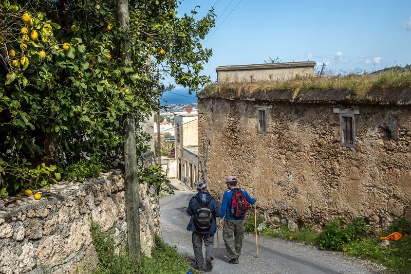 Entering the village of Lapta