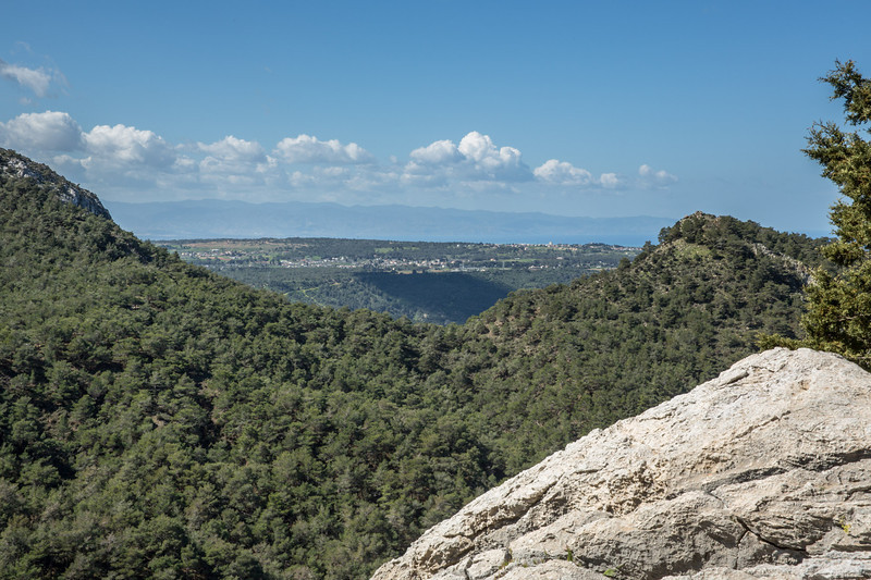 Looking over to the Troodos mountains
