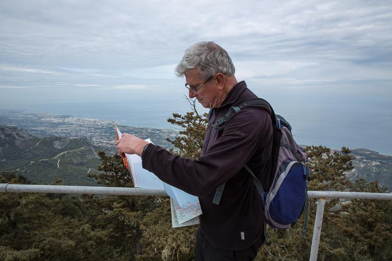 Norman checks the mountains