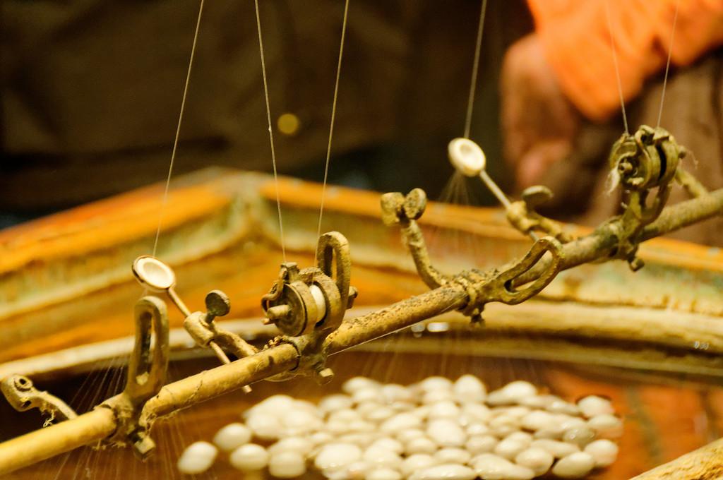Processo de fabrico da seda<br /> Loja de tapetes- Capadócia